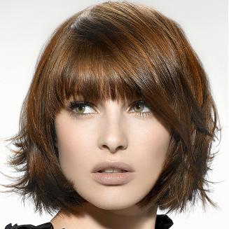 Модная стрижка волос для любоготипа лица